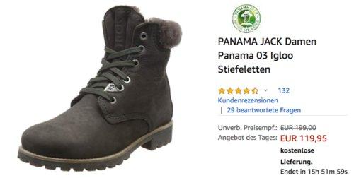 PANAMA JACK Damen Panama 03 Igloo Stiefeletten - jetzt 14% billiger