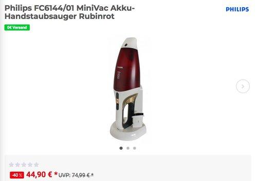 Philips FC6144/01 MiniVac Akku-Handstaubsauger - jetzt 15% billiger