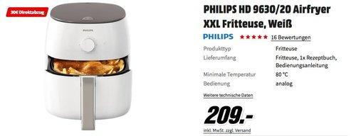 PHILIPS HD 9630/20 Airfryer XXL Fritteuse - jetzt 14% billiger