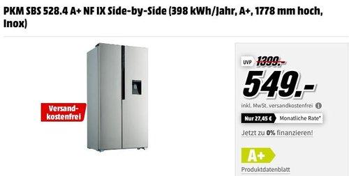PKM SBS 528.4 A+ NF IX Side-by-Side Kühl-Gefrierkombination - jetzt 10% billiger