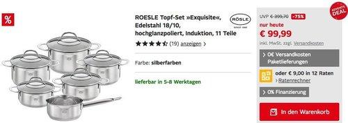 "RÖSLE Topf-Set ""Exquisite"" 11Teile - jetzt 27% billiger"