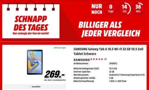 SAMSUNG Galaxy Tab A 10.5 Wi-FI 32 GB Tablet - jetzt 10% billiger