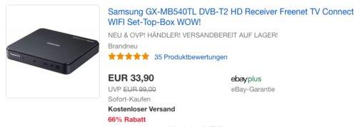 Samsung GX-MB540TL DVB-T2 HD Receiver - jetzt 18% billiger