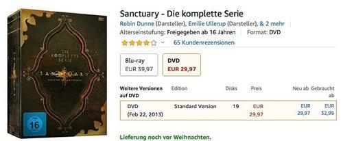 Sanctuary - Wächter der Kreaturen - Die komplette Serie(DVD) - jetzt 17% billiger
