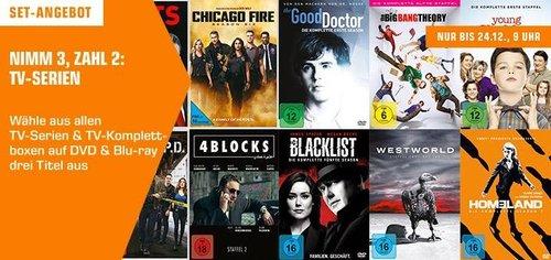 Saturn - Nimm 3 Zahl 2 TV-Serien Aktion: z.B. Westworld, Dexter, Die Schlümpfe - jetzt 31% billiger
