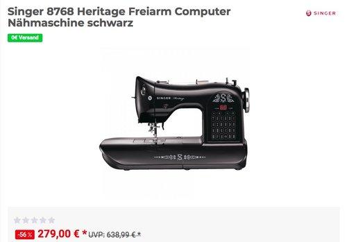 Singer 8768 Heritage Freiarm Computer Nähmaschine - jetzt 5% billiger