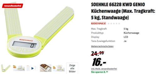 Soehnle 66228 Digitale Küchenwaage Genio Green - jetzt 36% billiger