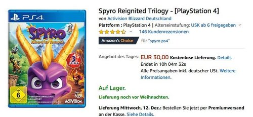 Spyro Reignited Trilogy - [PlayStation 4] - jetzt 16% billiger