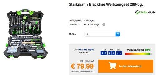 Starkmann Blackline Werkzeugset 299-tlg. im Koffer - jetzt 20% billiger