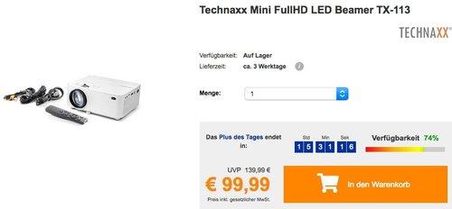 Technaxx Mini FullHD LED Beamer TX-113 - jetzt 11% billiger