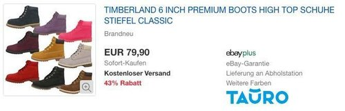 Timberland 6 Inch Premium Junior Boot, Stiefel für Mädchen und Damen - jetzt 16% billiger