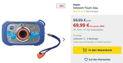 Vtech Kidizoom Touch Digitalkamera (80-145004) - jetzt 27% billiger
