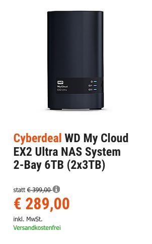 WD My Cloud EX2 Ultra NAS System 2-Bay 6TB - jetzt 11% billiger