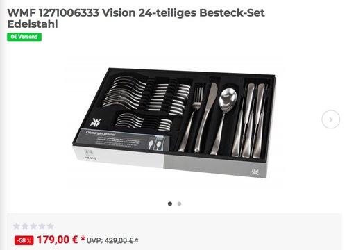 WMF Vision Besteck-Set, 24-teilig, Cromargan protect Edelstahl - jetzt 17% billiger