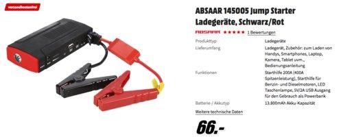ABSAAR 145005 Jump Starter, 200A (400A Spitzenleistung) - jetzt 17% billiger