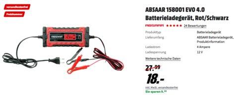 ABSAAR 158001 EVO 4.0 Batterieladegerät für Kfz-Batterien - jetzt 36% billiger