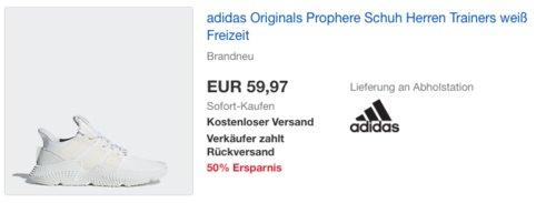 adidas Originals Prophere Herren Schuh, weiß - jetzt 28% billiger