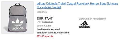 adidas Originals Trefoil Casual Rucksack - jetzt 37% billiger