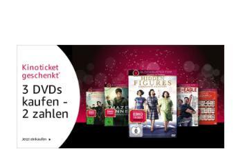 Amazon: 3 für 2 Aktion auf ausgewählte DVDs - jetzt 30% billiger