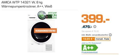 AMICA WTP 14321 8 kg Wärmepumpentrockner, A++ - jetzt 15% billiger