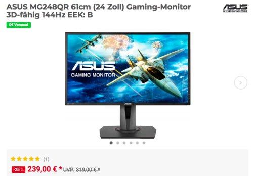 ASUS MG248QR 61cm (24 Zoll) Gaming-Monitor (1 ms, 144Hz, Lautsprecher) - jetzt 6% billiger