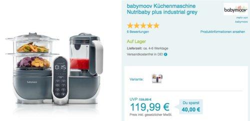 babymoov Küchenmaschine Nutribaby plus - jetzt 17% billiger