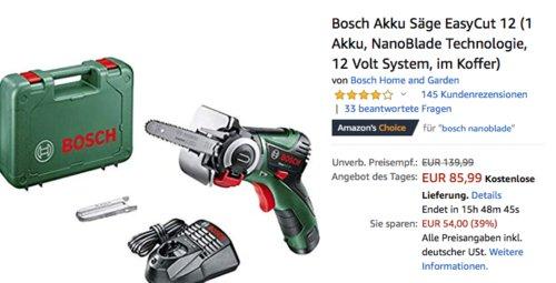Bosch Akku Säge EasyCut 12 im Koffer - jetzt 20% billiger
