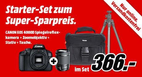Canon Eos 4000D Spiegelreflexkamera inkl. 18-200 m Zoomobjektiv, Stativ und Tasche - jetzt 27% billiger
