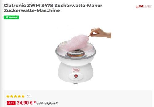 Clatronic ZWM 3478 Zuckerwatte-Maschine - jetzt 22% billiger