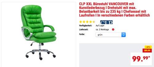 CLP XXL Bürostuhl/Chefsessel VANCOUVER mit Kunstlederbezug in versch. Farben - jetzt 29% billiger