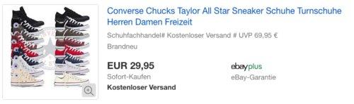 Converse Chucks Taylor All Star Low- oder Hi-Sneaker in versch. Farben und Größen - jetzt 27% billiger