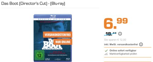 Das Boot (Director's Cut) - (Blu-ray) - jetzt 30% billiger