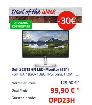 """Dell S2319HN LED-Monitor (23"""") 58,42 cm (Full HD, 1920x1080, IPS, 5ms, HDMI, VGA) - jetzt 23% billiger"""