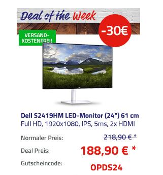 "Dell S2419HM LED-Monitor (24"") 61 cm - jetzt 14% billiger"