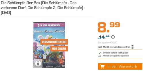 Die Schlümpfe 3er Box (Die Schlümpfe - Das verlorene Dorf, Die Schlümpfe 2, Die Schlümpfe) - (DVD) - jetzt 40% billiger
