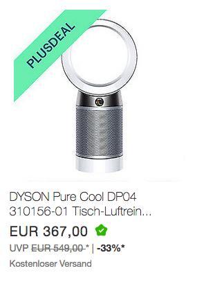 DYSON Pure Cool DP04 310156-01 Tisch-Luftreiniger/-Ventilator - jetzt 10% billiger