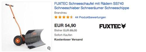 FUXTEC SS740 Schneeschieber mit Rädern - jetzt 7% billiger