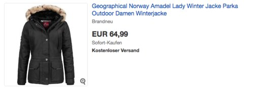 """Geographical Norway Lady Winterjacke """"Amadel"""" - jetzt 28% billiger"""