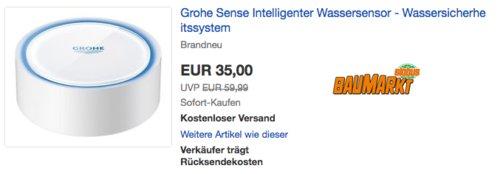 Grohe Sense Intelligenter Wassersensor - Wassersicherheitssystem - jetzt 29% billiger