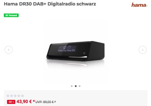 Hama DR30 DAB+ Digitalradio, schwarz - jetzt 8% billiger