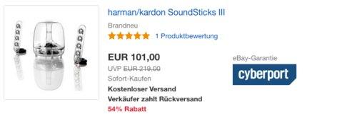harman/kardon SoundSticks III 2.1 Soundsystem - jetzt 40% billiger