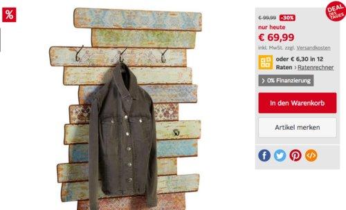 Home affaire Garderobe »Pastell« - jetzt 28% billiger