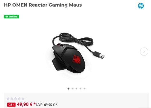HP OMEN Reactor Gaming Maus - jetzt 27% billiger
