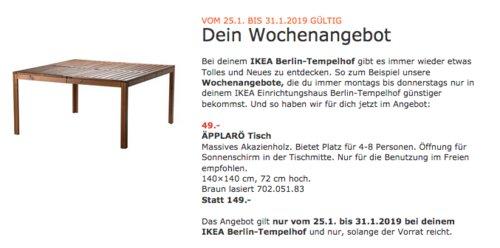 IKEA Berlin-Tempelhof - ÄPPLARÖ Tisch, braun - jetzt 67% billiger
