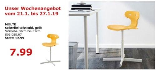IKEA Berlin-Waltersdorf - MOLTE Schreibtischstuhl, gelb - jetzt 38% billiger