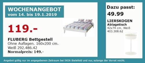 IKEA Bielefeld - FLUBERG Bettgestell, 160x200 cm - jetzt 20% billiger