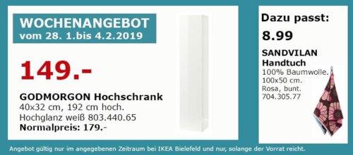 IKEA Bielefeld - GODMORGON Hochschrank, Hochglanz weiß - jetzt 17% billiger