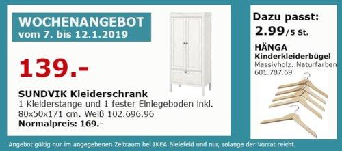 IKEA Bielefeld - SUNDVIK Kleiderschrank, weiß - jetzt 18% billiger
