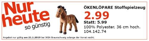IKEA Braunschweig - VÖKENLÖPARE Stoffspielzeug, Pferd - jetzt 50% billiger