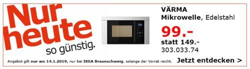IKEA Braunschweig - VÄRMA Mikrowelle, Edelstahl - jetzt 34% billiger
